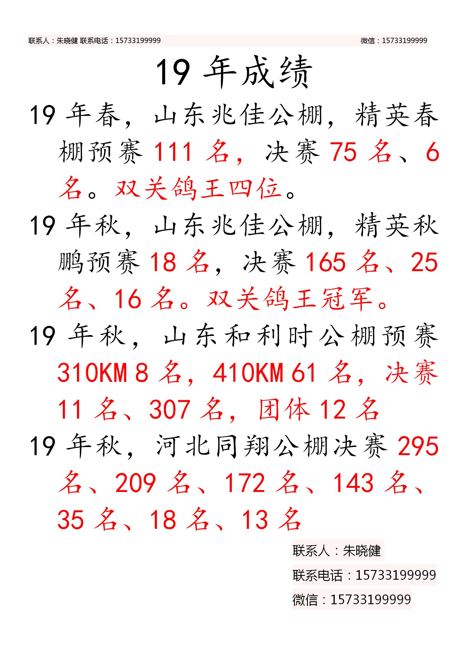 长江道1号19年成绩