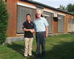 金陵八号夏超拜访德国赛鸽名家汉斯威利理奇