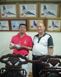 和意先生与台湾鸽友