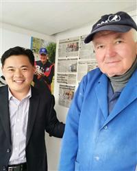 刘总拜访葛思顿范德瓦尔先生