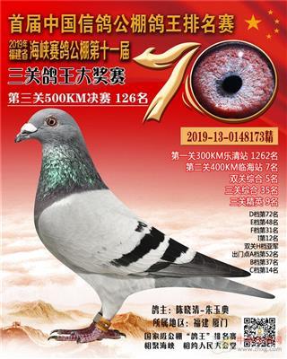 2019年福建海峡公棚决赛126名