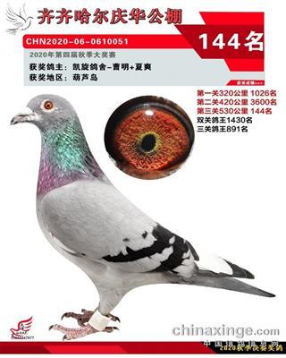 2020年庆华144名