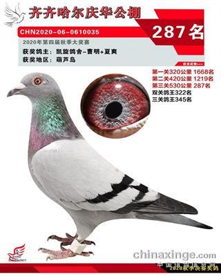 2020年庆华287名