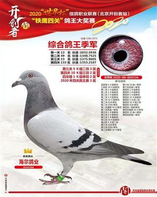 2020年北京开创四关鸽王季军