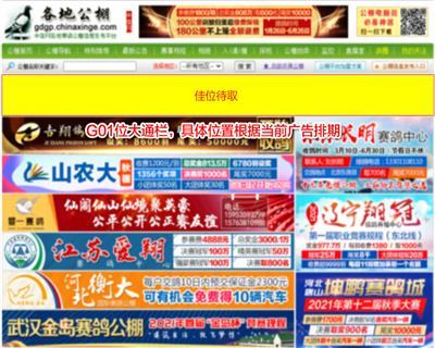 各地公棚上方G01大通栏广告位一个月